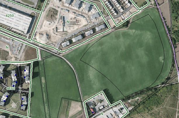 Ortofotomapa Letňan. Zdroj: Cenová mapa stavebních pozemků