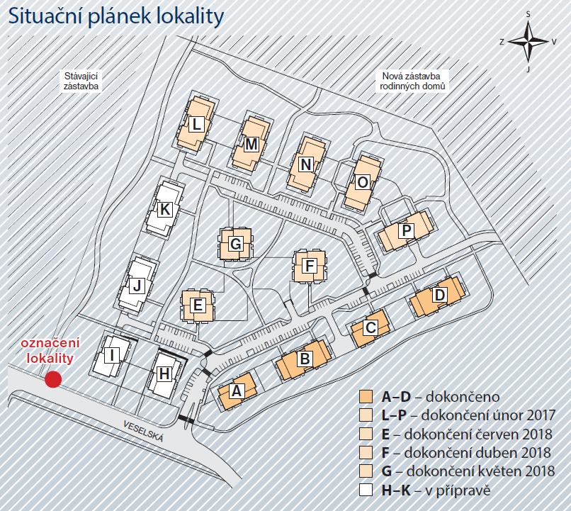 Situační plánek lokality Letňanské zahrady. Zdroj: Central Group