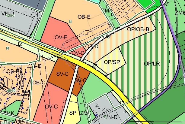 Územní plán Prahy. Zdroj: Cenová mapa stavebních pozemků